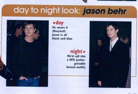 Jason Behr - Day to night look