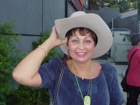 MistyMue shows Bill's Cowboy hat