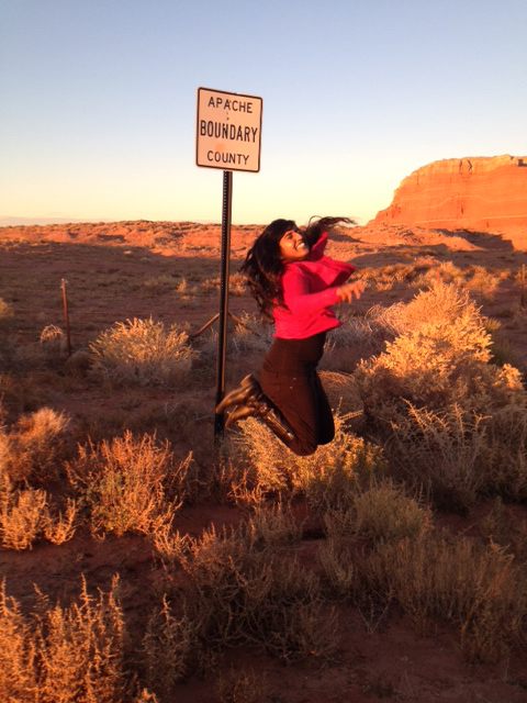 Near Four Corners! I was jumping for joy in the middle of the desert! Yay Roswell!
