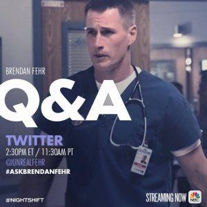 Twitter Q&A with Brendan Fehr