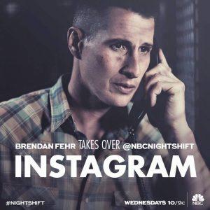 Brendan Fehr takes over @NBCnightshift's Instagram