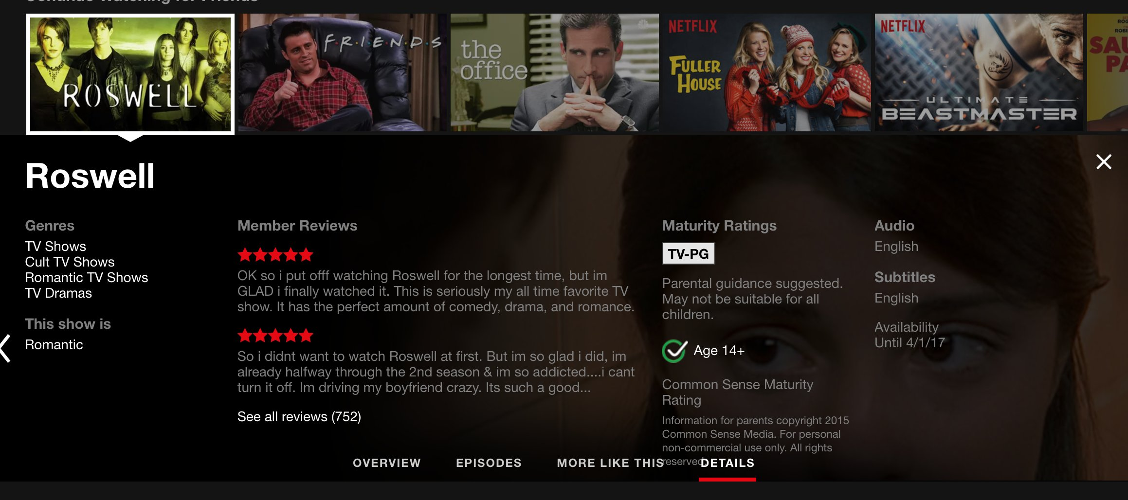 Crashdown com » Roswell » Netflix Confirms Not An April
