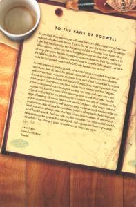 Jason Katims' Letter