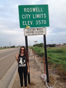 Roswell city sign